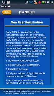 NAPA PROLink VIN Capture - screenshot thumbnail
