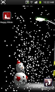 Happy Winter 3D LWP Free screenshot 2