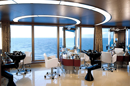 Holland-America-Signature-Class-Greenhouse-Spa - Get pampered at the Greenhouse Spa and Salon while taking in ocean landscapes aboard Nieuw Amsterdam.