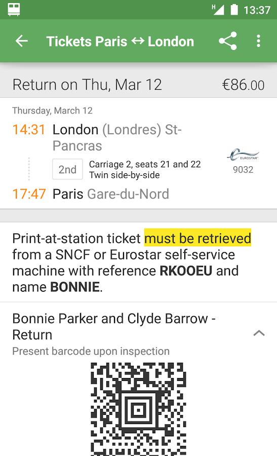 Capitaine Train: train tickets - screenshot