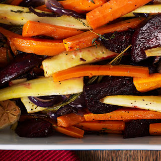 Roasted Root Vegetables with Thyme and Rosemary Recipe