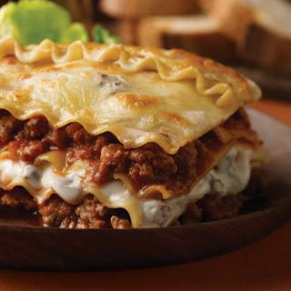 Beef & Mushroom Lasagna.