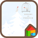 White forest and a bird Dodol icon