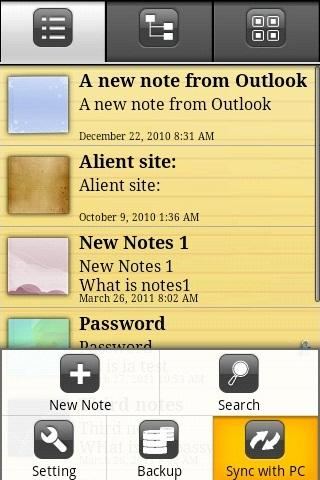 eMobile Note with Outlook Sync- screenshot