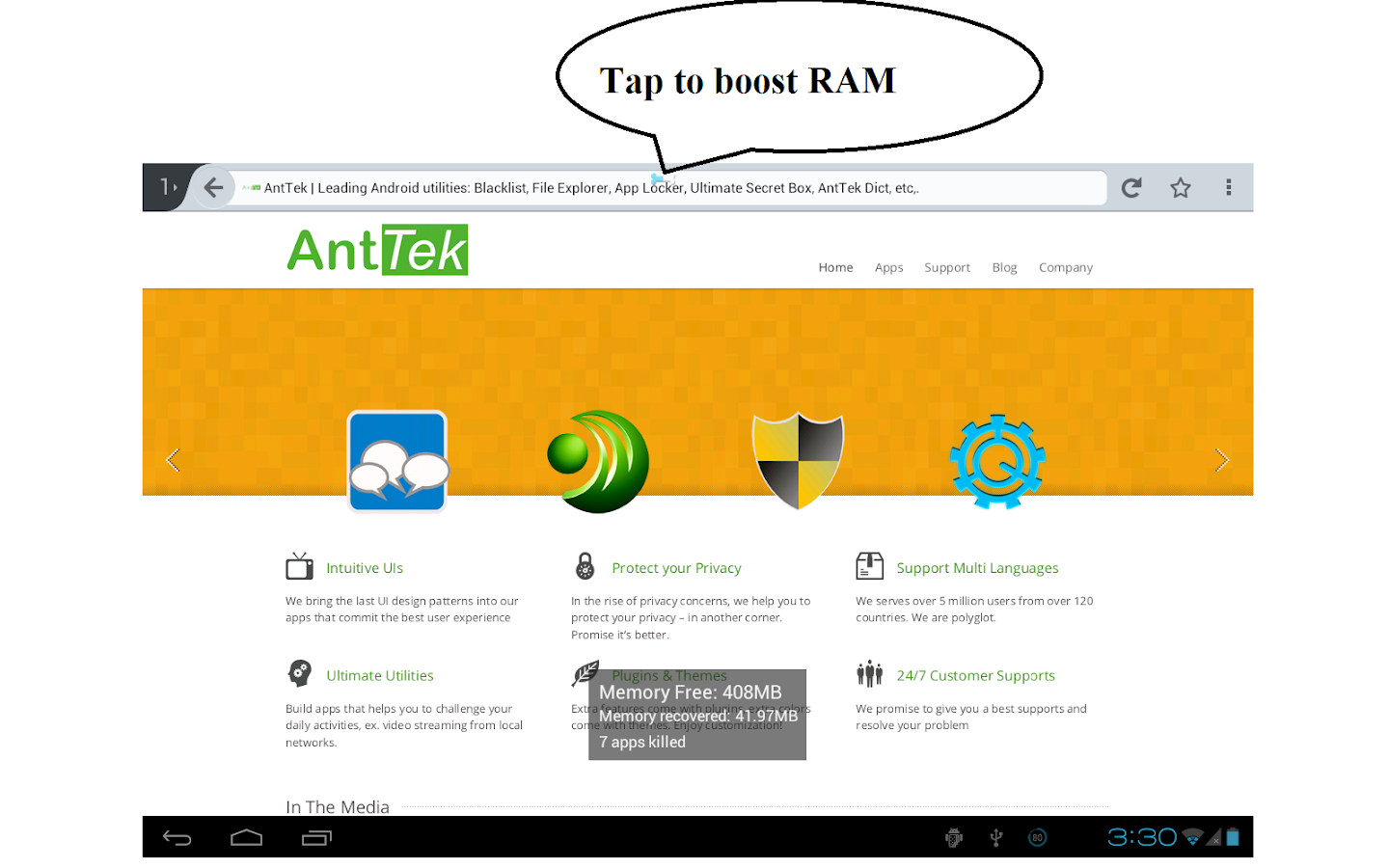 Smart RAM Booster Pro - screenshot