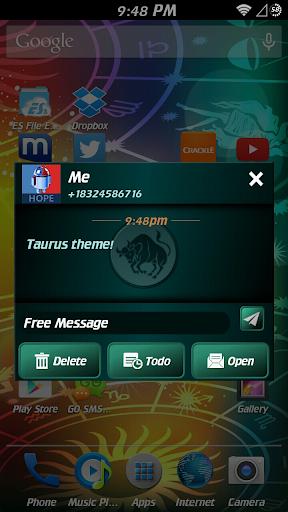 GO SMS Pro Taurus Theme