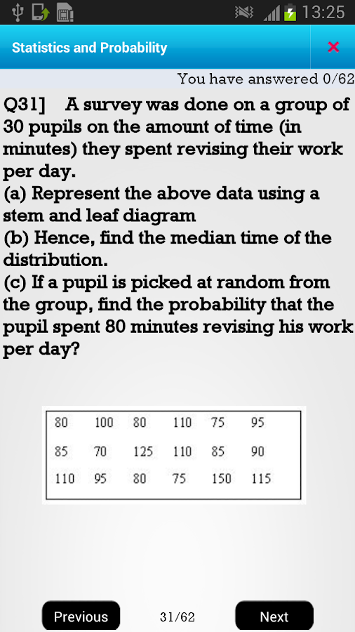 US 7th Statistics &Probability - screenshot