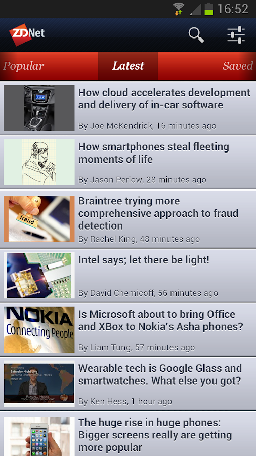 ZDNet Mobile- screenshot