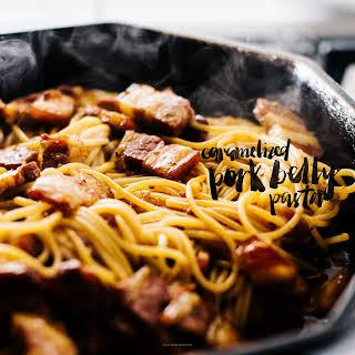Vietnamese Caramelized Pork Belly Pasta.