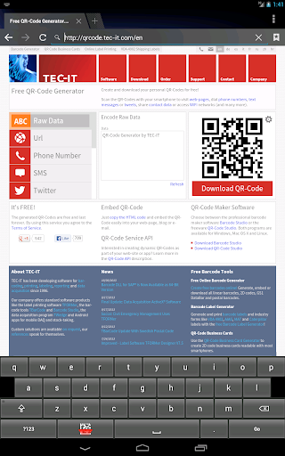 【免費生產應用App】键盘条码扫描器,免费-APP點子