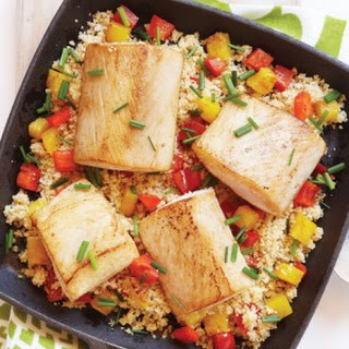 Mahi Mahi with Pineapple & Red Peppers