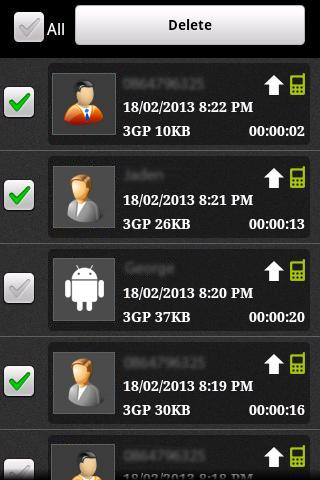 Free Auto Call Recorder- screenshot