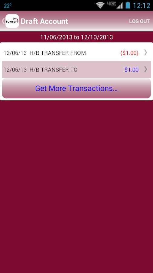 Sunset Credit Union- screenshot