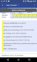 Screenshot of Wetterwarner Pro