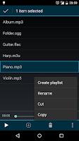 Screenshot of Clean Music Player
