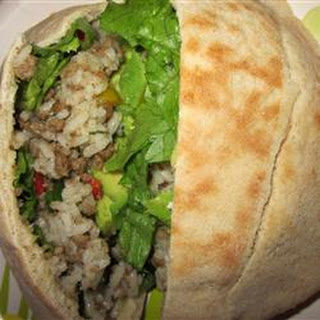 Beefy Rice Salad Sandwiches.