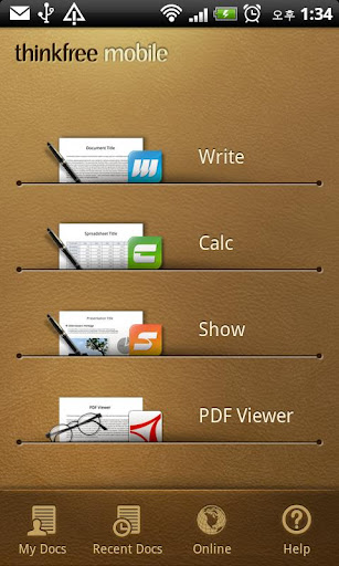 ������ ����� ����� ������� �������� ThinkFree Office Mobile v4.2.120810