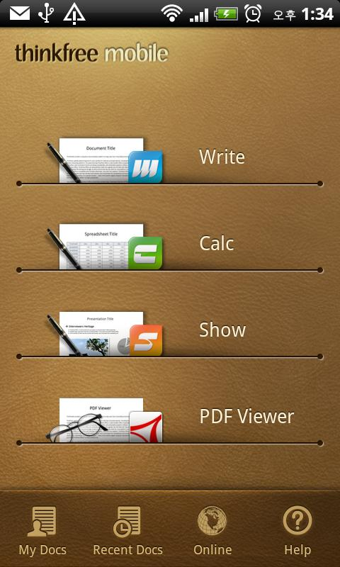 ThinkFree Office Mobile - screenshot