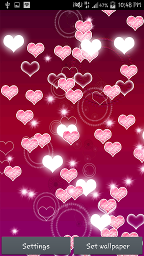 【免費個人化App】Pink Heart Live Wallpaper-APP點子