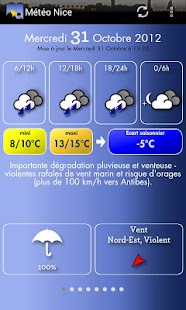 Météo Nice - screenshot thumbnail