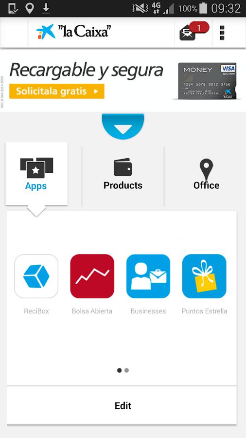 """""""la Caixa""""- screenshot"""