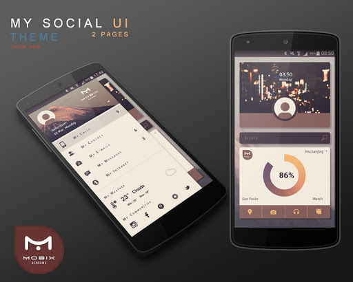 UCCW My Social UI Skin Theme