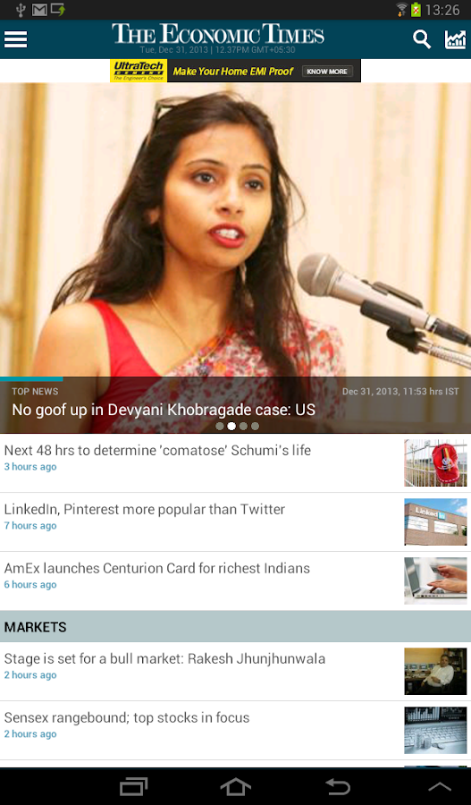 The Economic Times - screenshot