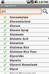 Gluten Free Ingredients - screenshot thumbnail