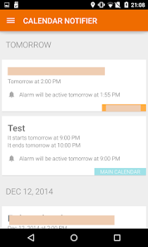 Events Notifier for Calendar