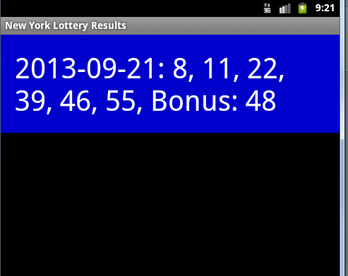 New York Lotto Results