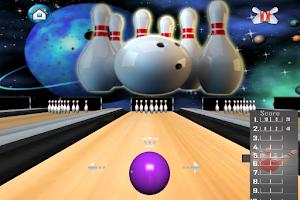 Screenshot of Bowling 3D Game