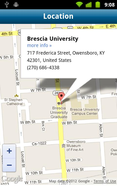Brescia University - screenshot