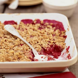 Raspberry- Rhubarb Crisp
