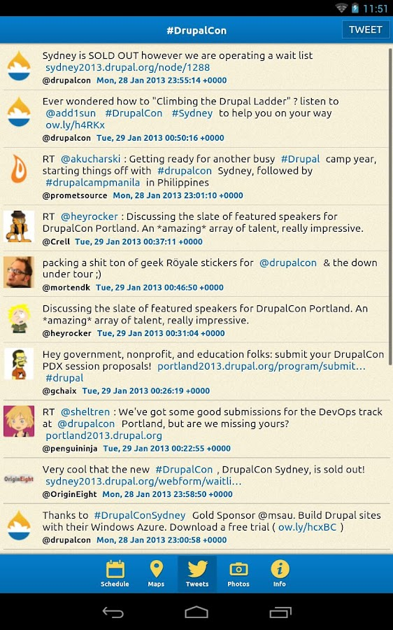 DrupalCon Sydney 2013 Guide - screenshot