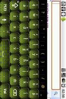 Screenshot of Lime Carbon Keyboard Skin