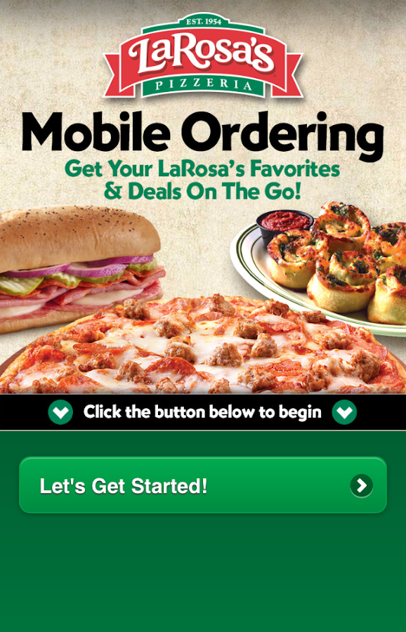 LaRosa's Pizzeria Ordering App - screenshot
