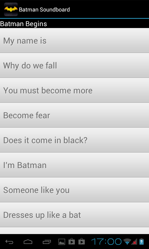 Batman Soundboard - screenshot