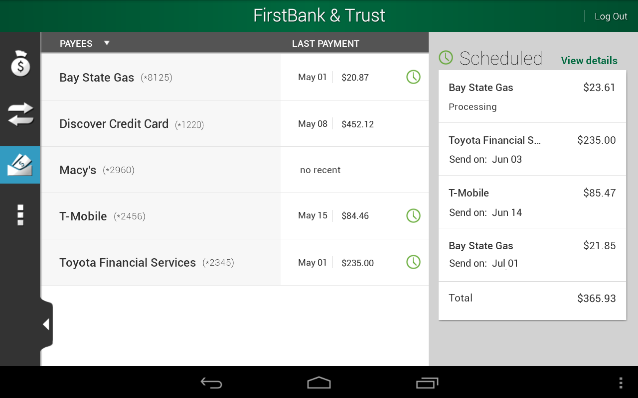 FirstBank & Trust - screenshot