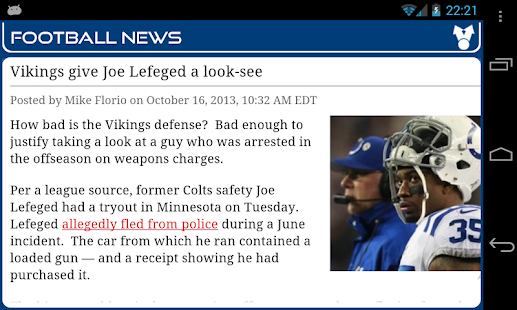 Indianapolis Football News - screenshot thumbnail