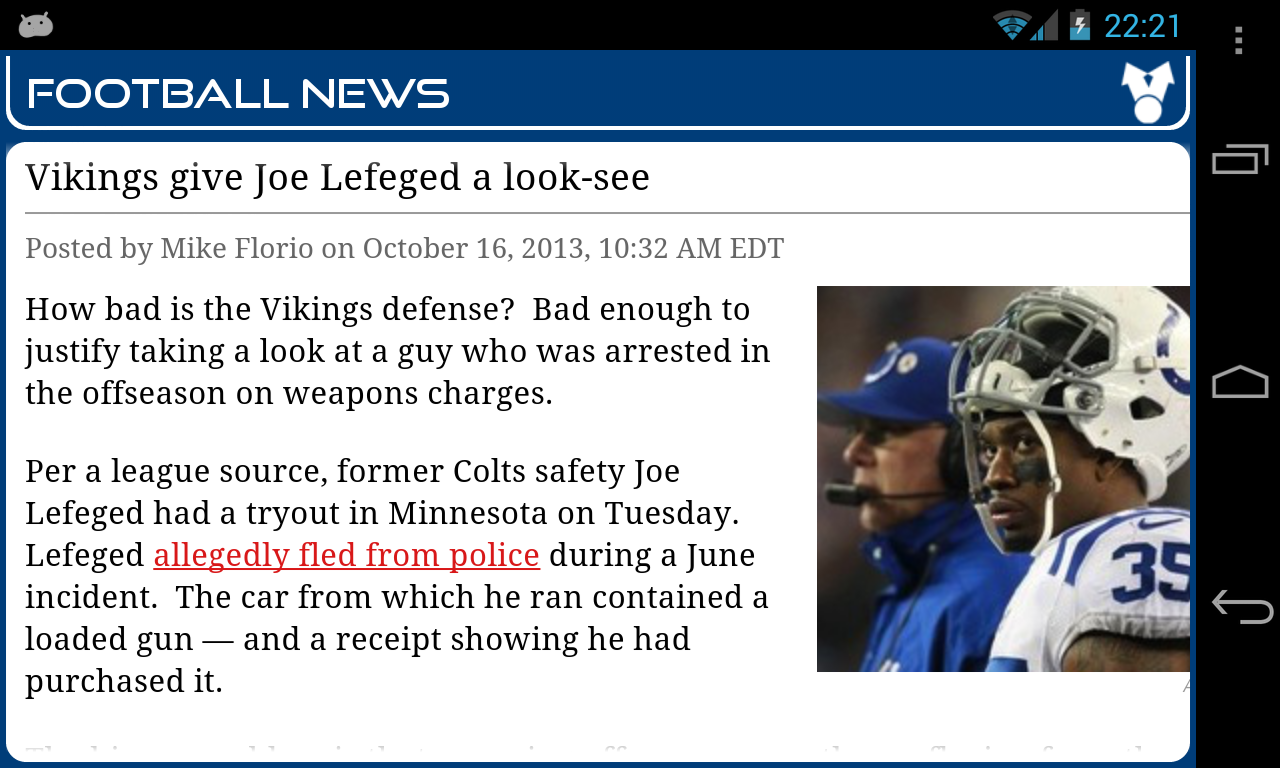 Indianapolis Football News- screenshot