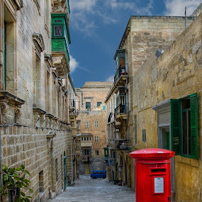 Down the streets of Valletta by Krasimir Lazarov - City,  Street & Park  Historic Districts ( historic districts, building, malta, valletta, street, mediterranean, tourism, architecture, cityscape, city, travel locations )