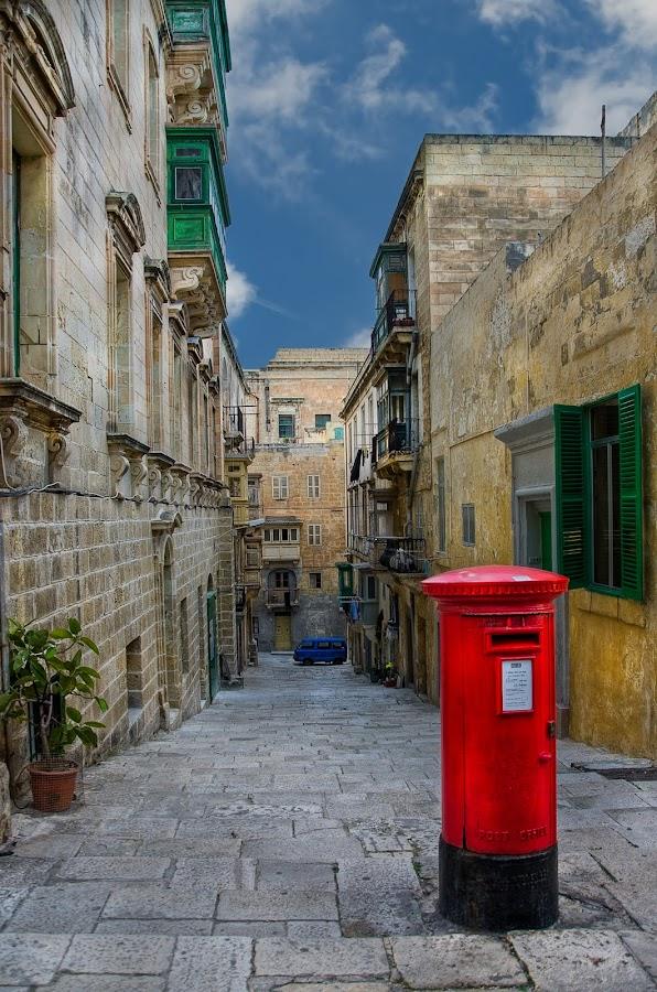Down the streets of Valletta by Krasimir Lazarov - City,  Street & Park  Historic Districts ( historic districts, building, malta, valletta, street, mediterranean, tourism, architecture, cityscape, city, travel locations )