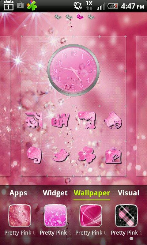 Pretty Pink Glitter theme 4 Go- screenshot
