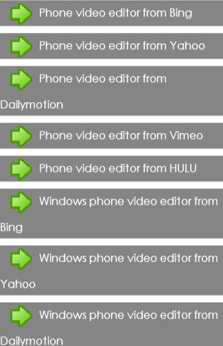 Mobile Video Editors Guide