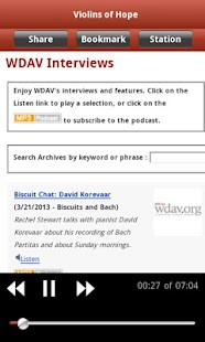 WDAV Classical Public Radio Ap - screenshot thumbnail
