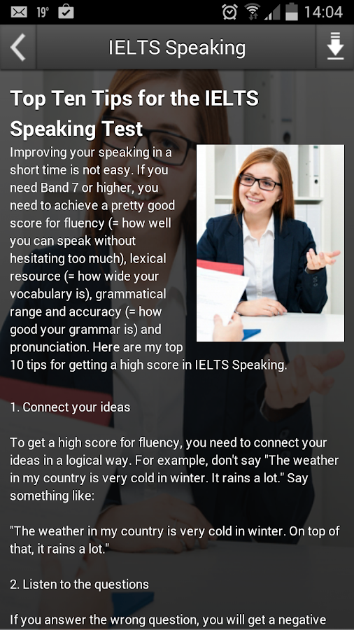 IELTS Speaking- screenshot