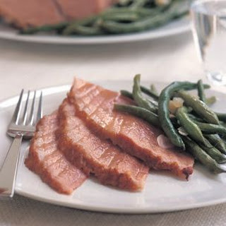 Baked Ham with Green Beans
