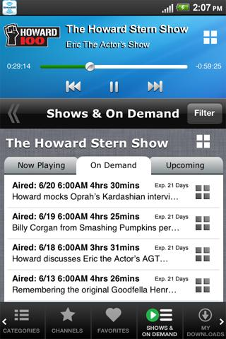 SiriusXM Internet Radio - screenshot