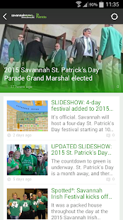 SavannahNow St. Patrick's App - screenshot thumbnail