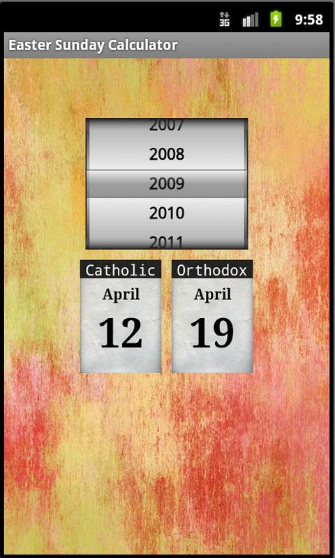 Easter Sunday Calculator- screenshot